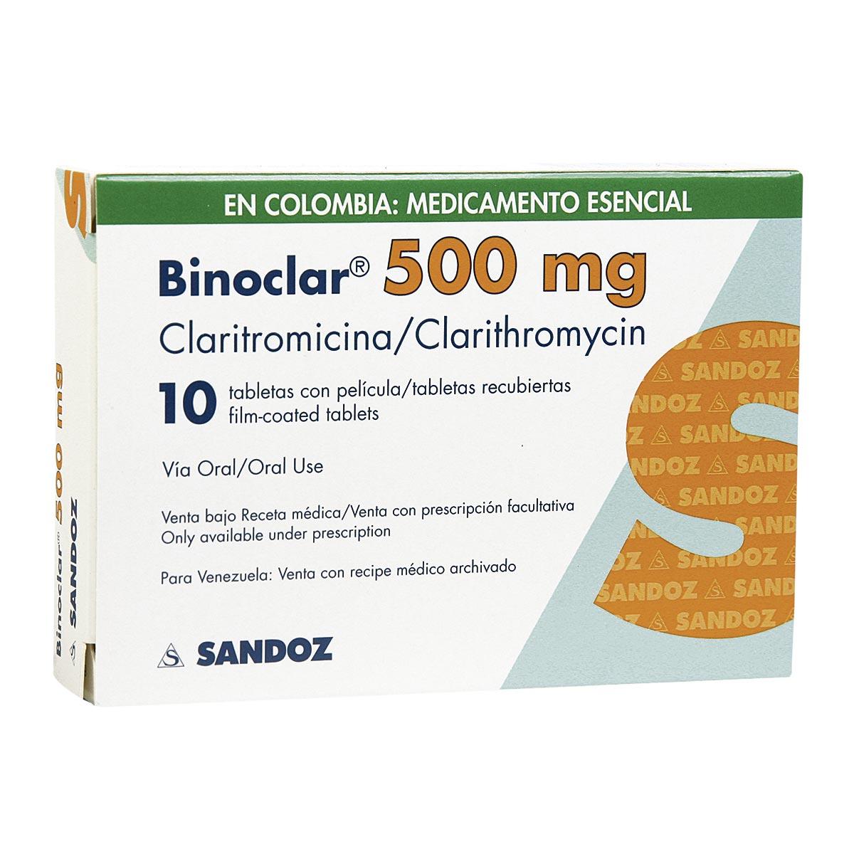 Binoclar 500 Mg Tableta Recubierta Colsubsidio